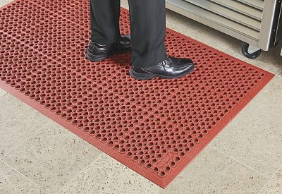 Cover the Door With Your Exercise Mats