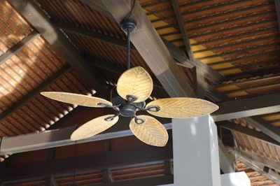 ceiling fan on a flat surface